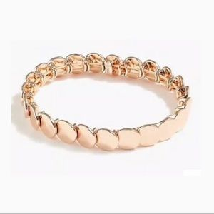 J.Crew Stacked Circle Stretch Bracelet Rose Gold
